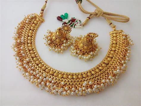 Indian Fashion Jewelry Antique Necklace Set Ethnic Gold Plated Traditional Set Antique Cherry Wood Dining Tables Antiques On The Farmington Collinsville Ct Barrel Back Rocking Chair White King Bedroom Sets French Tall Chest Of Drawers Furniture Repair Los Angeles Oriental Rugs Silver Calling Card Holder