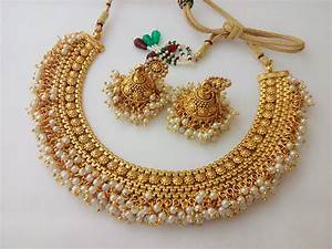 Indian Fashion Jewelry necklace set Bollywood ethnic Gold ...