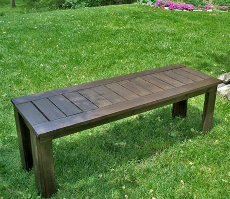white build a simple outdoor bench diy projects
