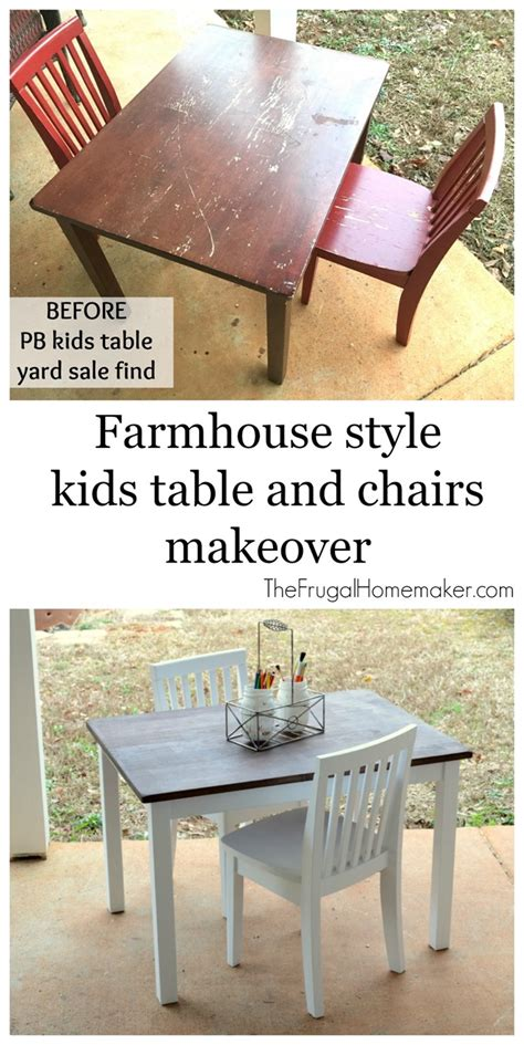 farmhouse style table and chair makeover