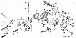 Honda Atv 2006 Oem Parts Diagram For Select Lever