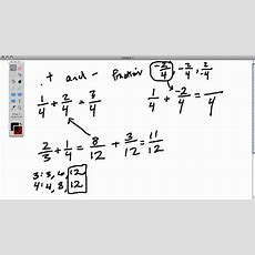 Adding Positive And Negative Fractions Youtube
