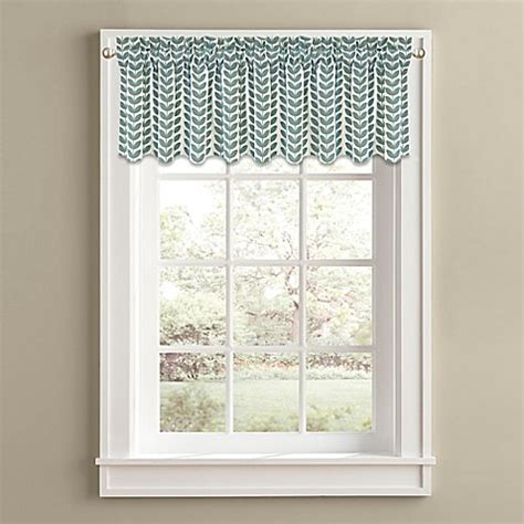 14 Inch Valance by 14 Inch Window Valance In Aqua Bed Bath Beyond