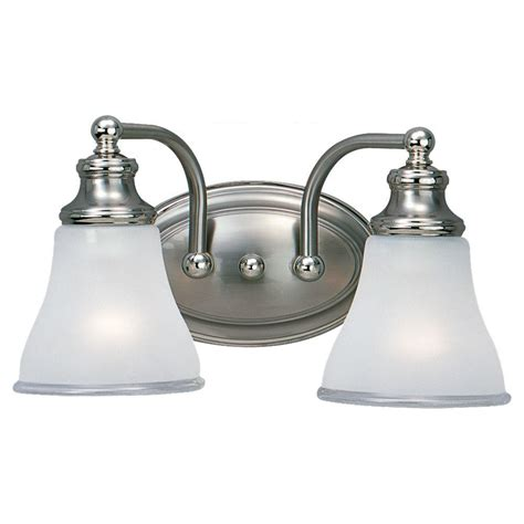 sea gull lighting alexandria 2 light two tone nickel