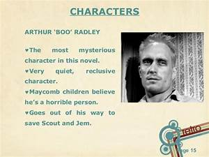 Book review To ... Boo Radley Mysterious Quotes