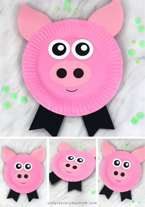 paper plate pig craft  kids  images pig crafts