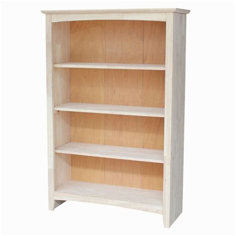 Solid Hardwood Bookcases by International Concepts Unfinished Open Bookcase