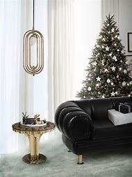mid century modern christmas living room ideas