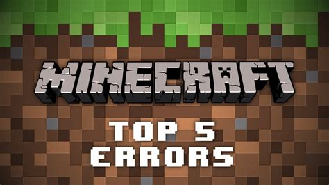 Top 5 Minecraft Server Errors (And How To Fix Them) - YouTube