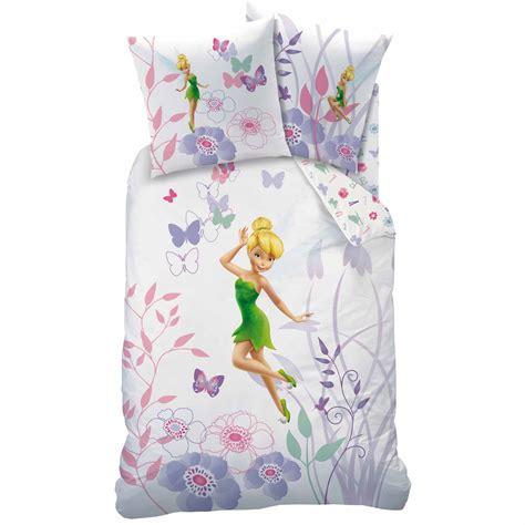 disney fairies f 233 e clochette parure de lit housse de couette r 233 versible 140 x 200 cm