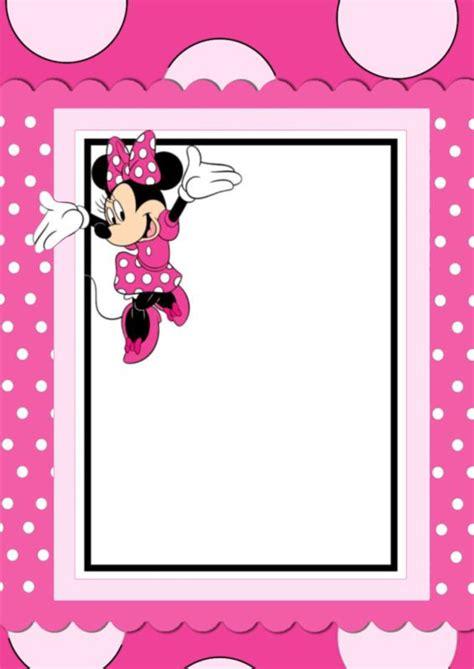 printable minnie mouse invitation card convite