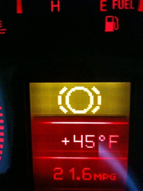 dashboard warning light question   means