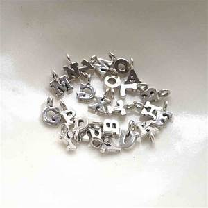 small silver letter charm by lime tree design With small silver letter charms
