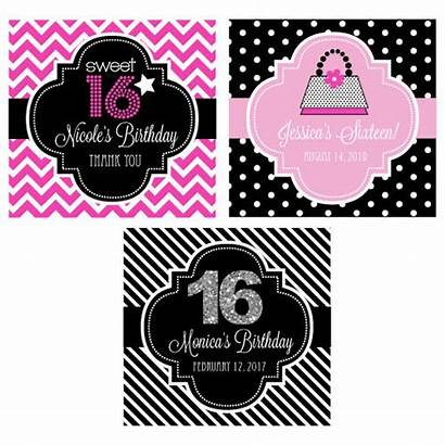Sweet Personalized Labels Favors Square Favor Tags