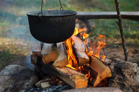 cooking campfire western trail fire camp camping cowboy west cook open food pot outdoor equipment kettle grilling kitchen meals cookout