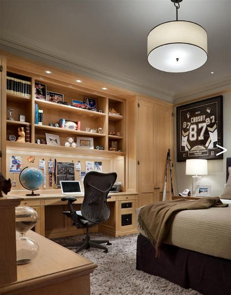 Desks For Small Bedrooms by Built In Desk Traditional Boy S Room Cullman
