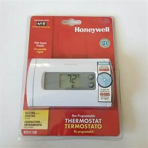Honeywell Digital Manual Thermostat Rth110b New In Package