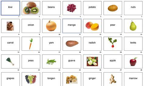 complete list  root vegetables flashcards fruits