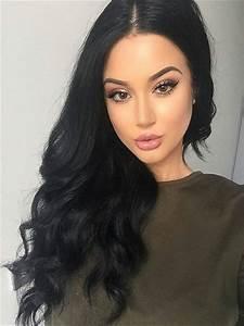 jet black full lace human hair wig loose curl