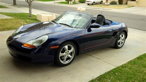 blue porsche convertible purchase used blue 2002 porsche boxster roadster