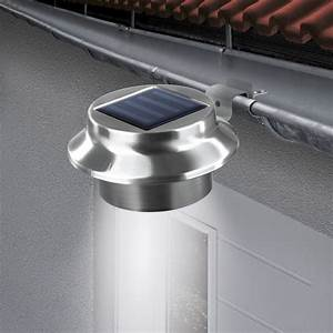 easymaxx solar dachrinnenleuchten 3er set edelstahl maxx With französischer balkon mit garten leuchtkugeln 3er set