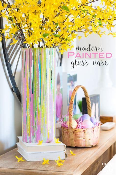 Painted Glass Vase for Springtime Decorating   In My Own Style