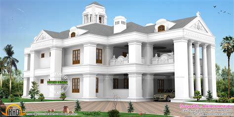 house plans with attached guest house colonial model luxurious home kerala home design and