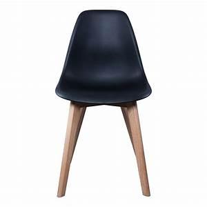 Chaise Scandinave Noir : chaise scandinave coque polypropyl ne noir ~ Teatrodelosmanantiales.com Idées de Décoration