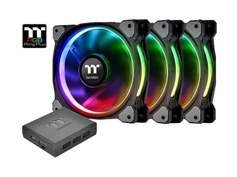 best static pressure rgb fans thermaltake riing plus 12 led rgb radiator fan tt premium