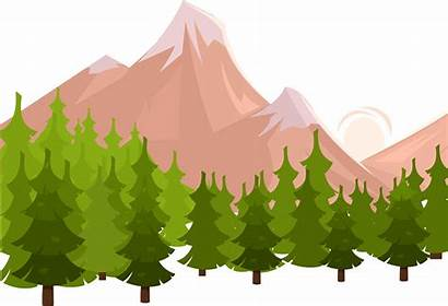 Clipart Hills Landforms Transparent Forest Icon Mountain