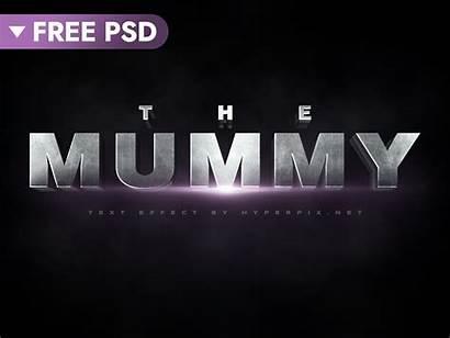 Text 3d Effect Cinematic Mummy Psd Photoshop