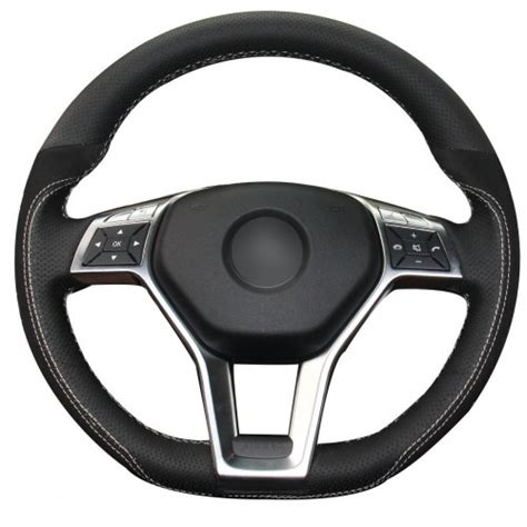 A wide variety of mercedes c300 accessories options are available to you Loncky Auto Black Genuine Leather Black Suede Custom Steering Wheel Covers for Mercedes Benz ...