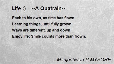 life  quatrain poem  manjeshwari p mysore poem