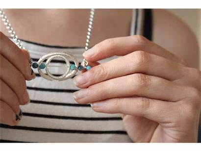Fidget Wire Jewelry Pendant Necklace Ring Wrapped
