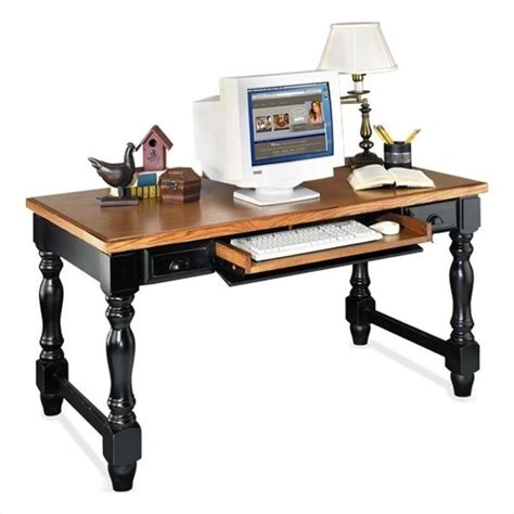 distressed wood computer desk kathy ireland home by martin southton writing table