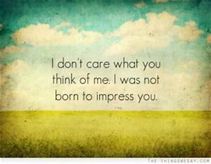 I Dont Care What You Think Quotes. QuotesGram