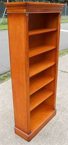 Tall, Yew, Wood, Standing, Open, Bookcase, Shelves, By, Bradley
