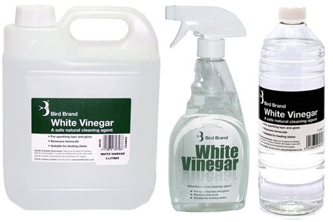 Bird Brand White Vinegar Cleaning Solution Limescale Glass