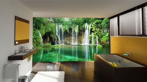10 Living Room Designs With Wall Murals by Beautiful Wall Mural Designs For Your Bathroom