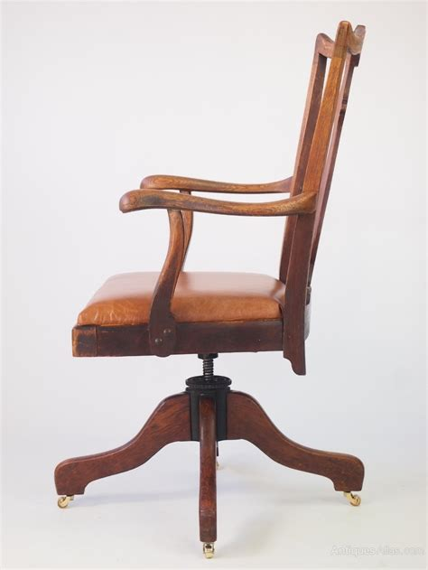 swivel desk chair by j s ford johnson chicago antiques atlas