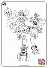 Barbie Coloringoo sketch template