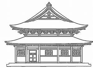 Maison Japonaise Dessin : colorier les dessins de monuments ~ Melissatoandfro.com Idées de Décoration