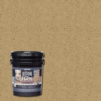 rust oleum restore  gal  advanced dune deck