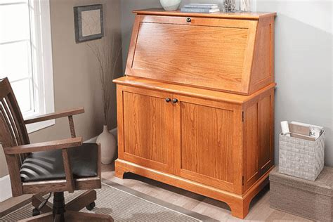 Drop Front Desk With File Cabinet by Hideaway Computer Desk Cabinet Glider Woodworking Plans Free