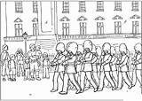 Coloring Guard Pages Changing London Colouring Palace Buckingham Queen Kingdom United sketch template