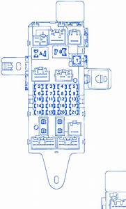 Toyota Lx470 Uz 2004 Engine Fuse Box  Block Circuit Breaker Diagram