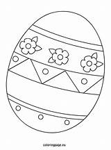 Easter Egg Printable Coloring Template Eggs Bunny Sheets Templates Eggrolls Coloringpage Eu Printables Pattern Colouring Shapes Clip Rabbit Related Drawing sketch template