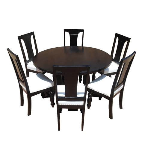 california solid wood leather pc  dining room set