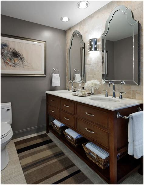 Bathroom Wall Colors With Gray Tile  Bathroom Design Ideas