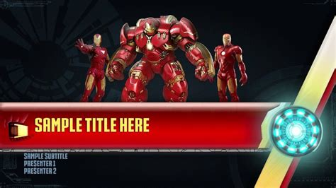 ironman powerpoint template youtube